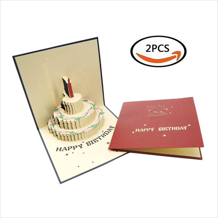 2PCS-Premium-Papercraft-3D-Pop-Up-Birthday-Cards