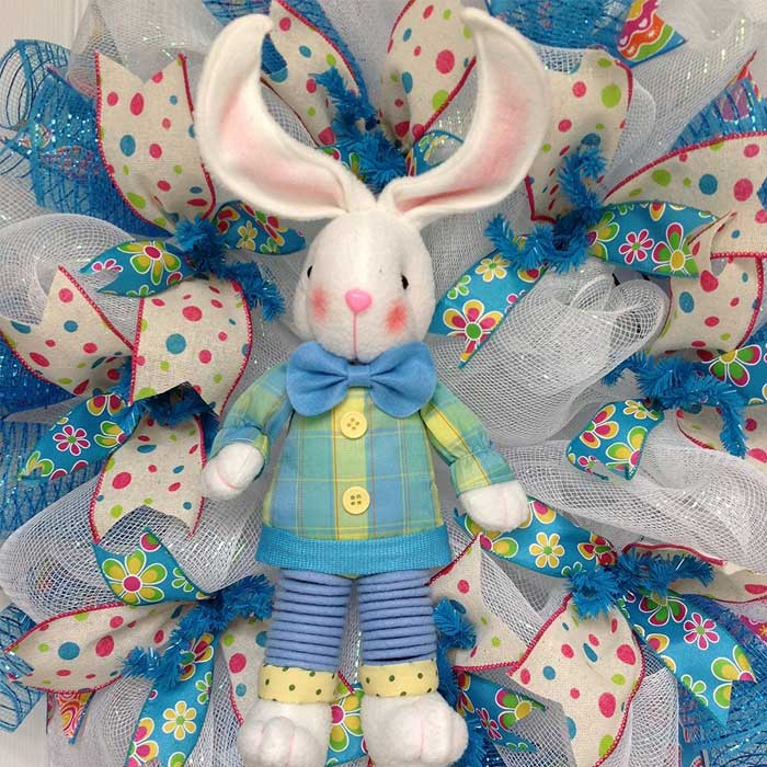 Adorable-Plush-Dangling-Legs-Easter-Bunny-Deco-Mesh-Wreath-2017