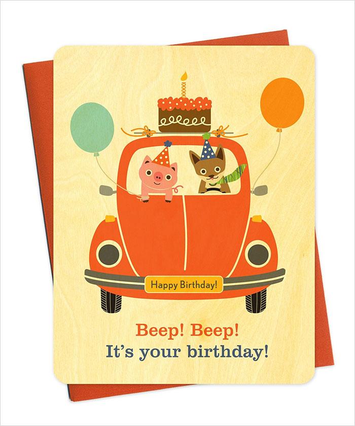 Beep-Beep-Cake-Car-Wood-Birthday-Card