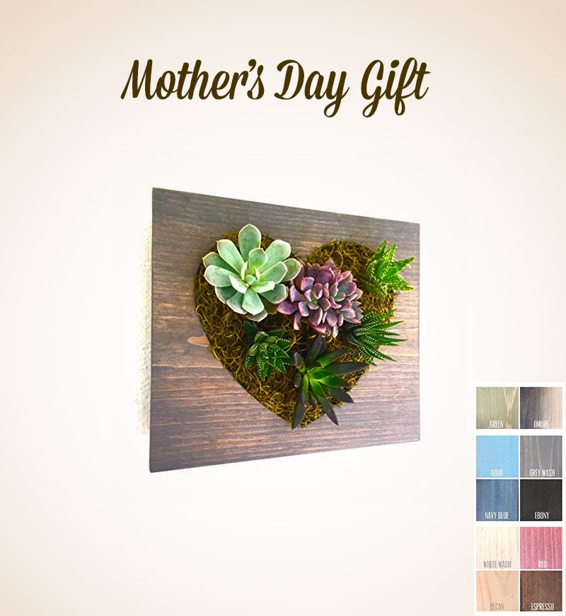 Custom-Color-Heart-Succulent-Cacti-Vertical-Garden-Living-Wall-Wall-Planter-Hanging-Planter-2017