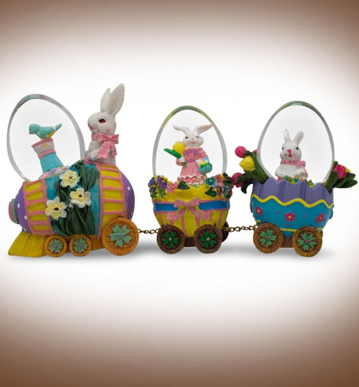 Easter-Bunny-Easter-Egg-Train-Water-Globe-Figurines