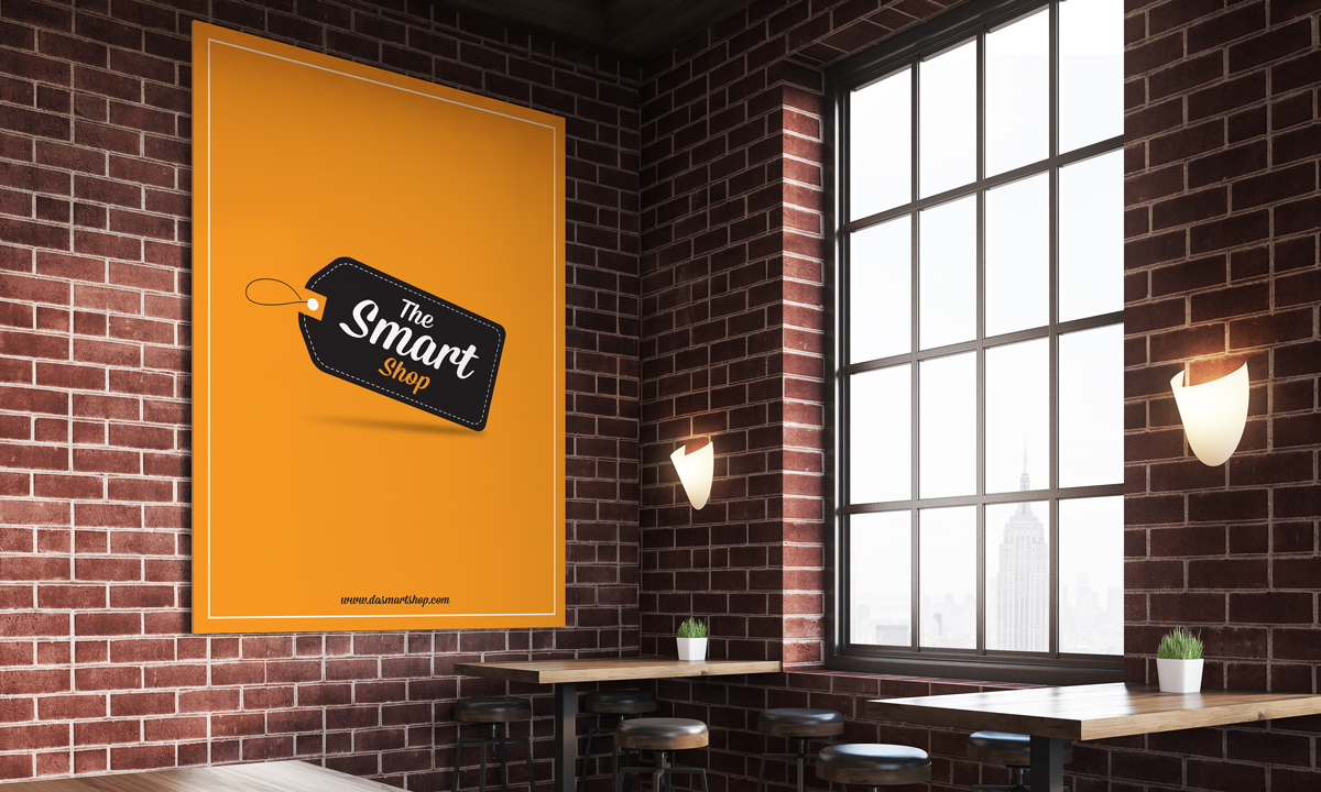 Free-Inside-Restaurant-Poster-MockUp-Psd-Template