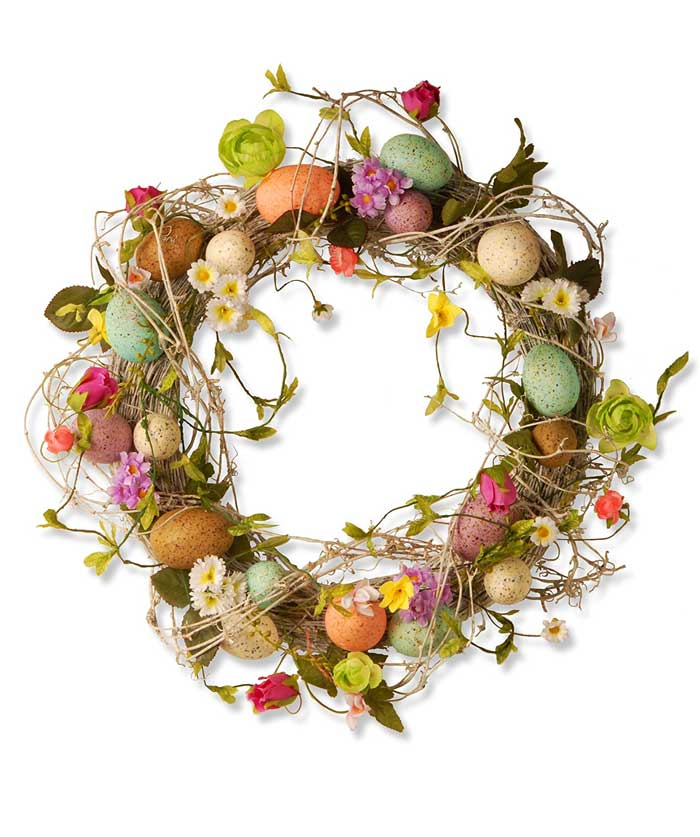 National-Tree-18-Inch-Easter-Wreath-with-Mixed-Flowers,