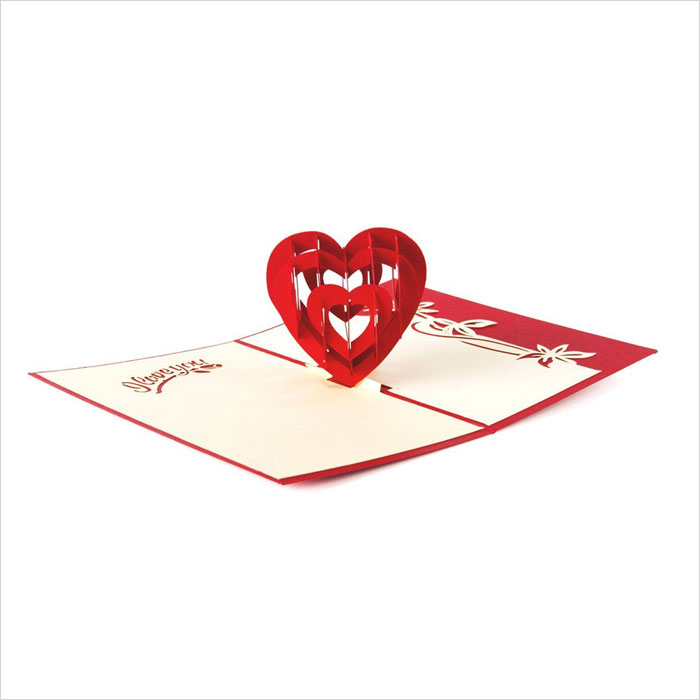 Paper-Spiritz-Heart-Loving-You-Pop-up-Greeting-Cards-Mother's-Day-Postcard