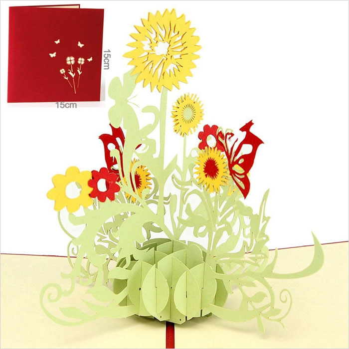 Paper-Spiritz-Sunflower-Pop-up-Greeting-Cards-Mother's-Day