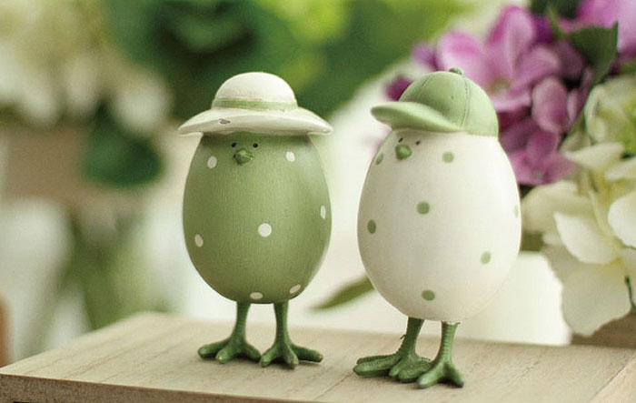 TOOZI-Easter-Decor-Hand-Painted-Resin-Eggs-Figurines-Set-of-2