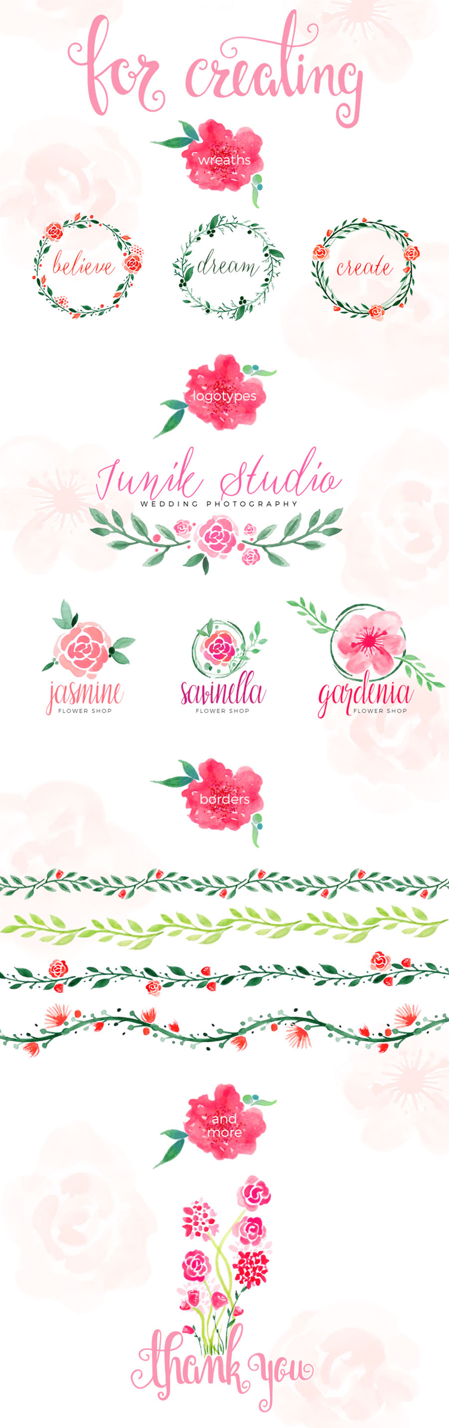 100-Free-Watercolor-Floral-Elements-2