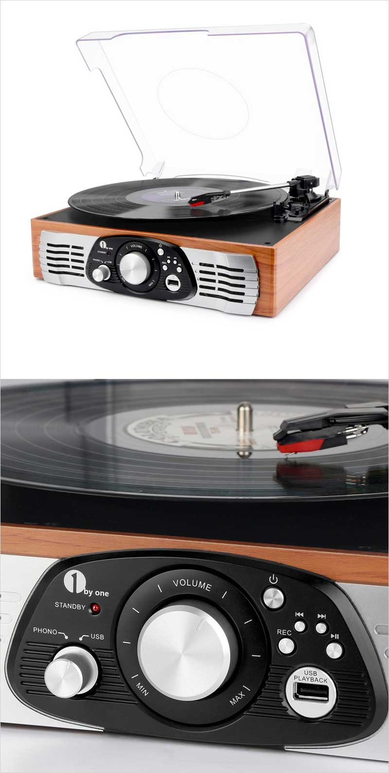 1byone-Belt-Drive-3-Speed-Stereo-Turntable