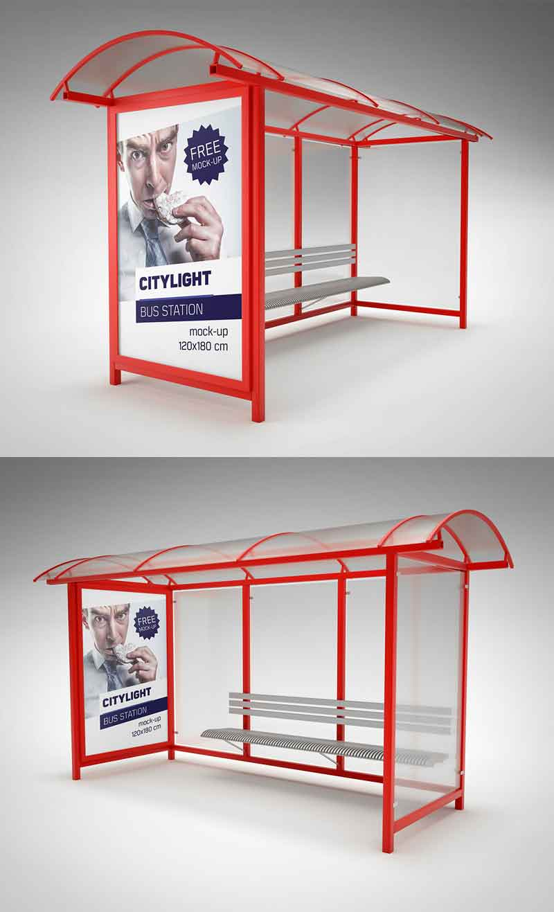 Bus-station-citylight-mockup