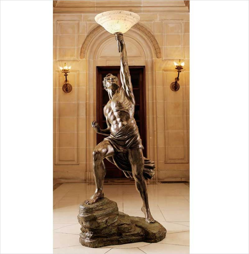 Design-Toscano-Prometheus-Sculptural-Floor-Lamp