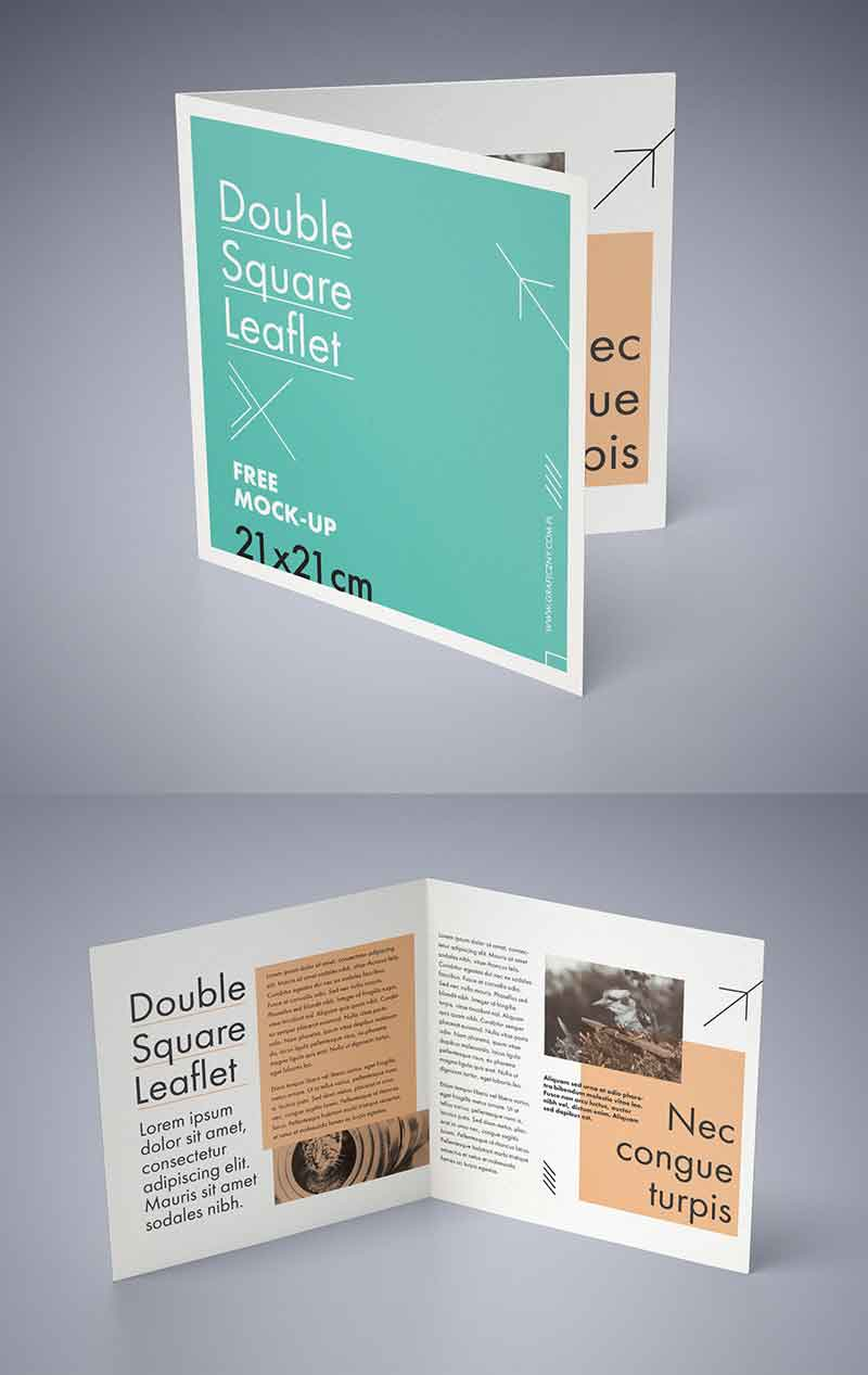 Double-square-leaflet-mockup