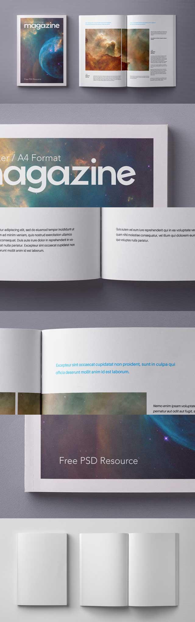 Free-A4-Magazine-Mockup-Template-Psd