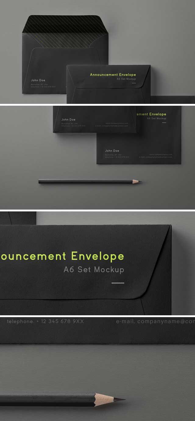Free-Psd-Envelope-Mockup-Set-A6