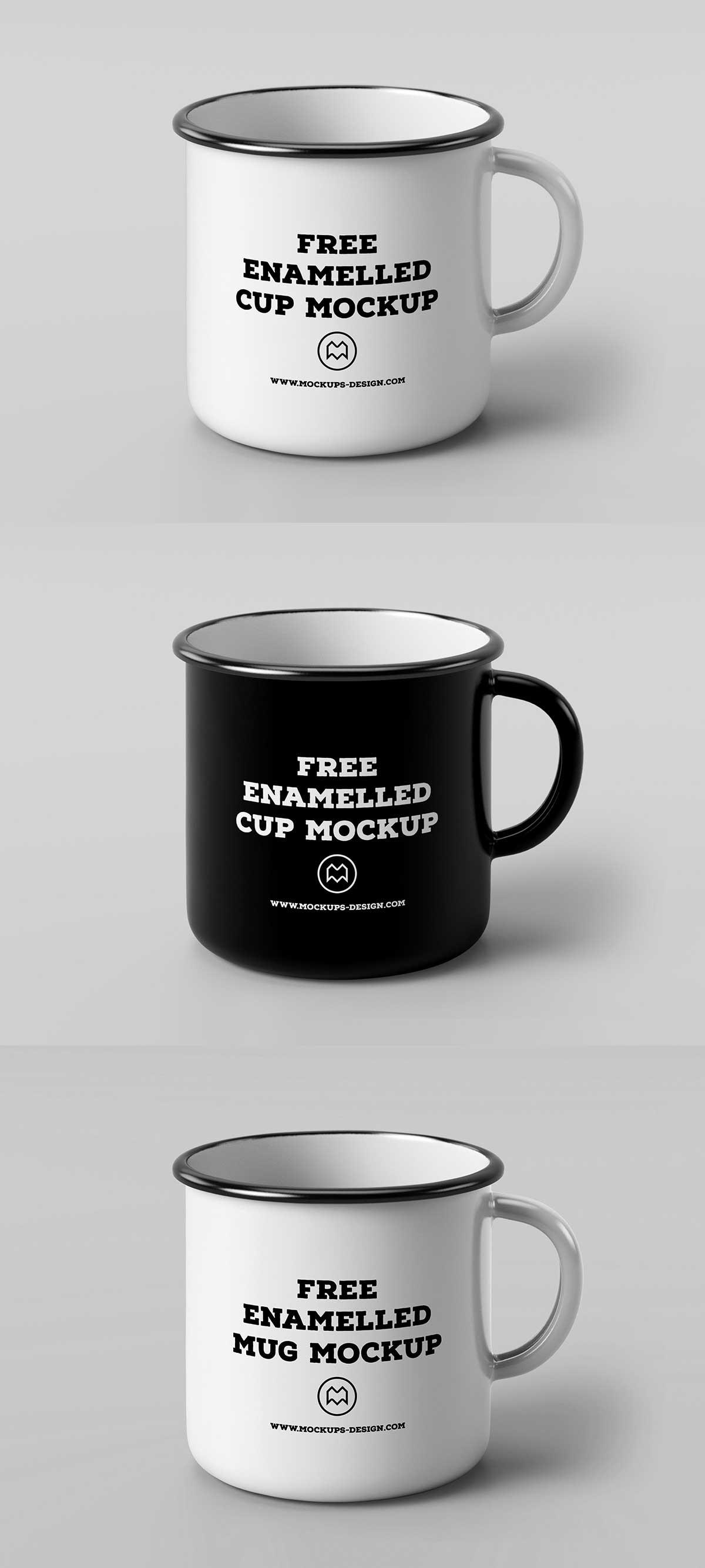 Free Enamel Mug Mockup Psd