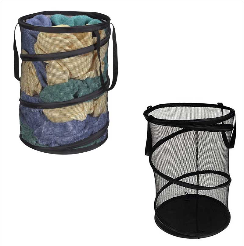 Household-Essentials-Pop-Up-Collapsible-Mesh-Laundry-Hamper