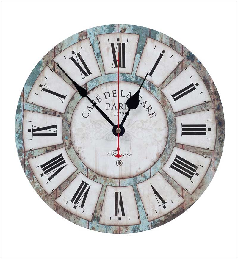 KI-Store-Silent-Wall-Clock-Decorative,-Rustic-Vintage-Wall-Clocks