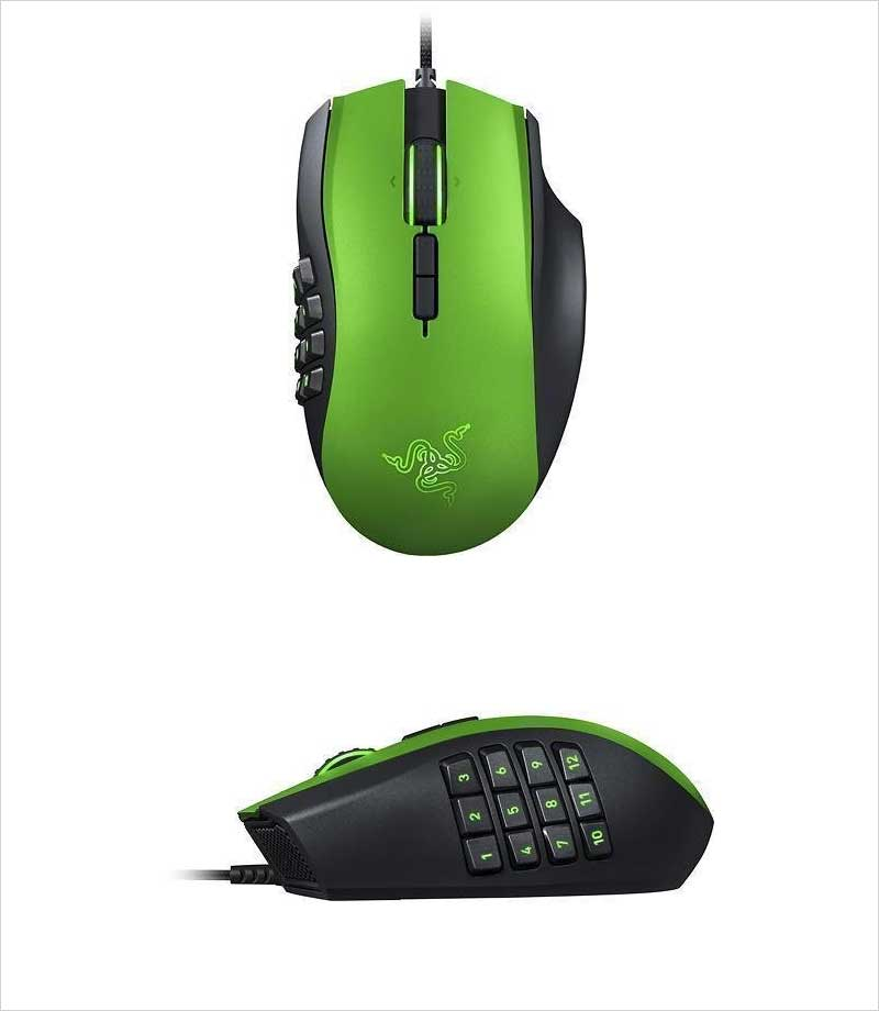 Razer-Limited-Edition-Naga-MMO-Laser-Gaming-Mouse,-Green