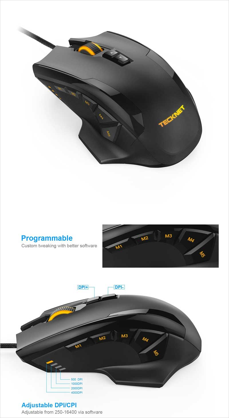 TeckNet-HYPERTRAK-Programmable-Laser-Gaming-Mouse