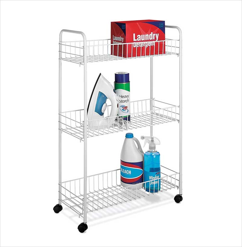 Whitmor-Slim-Household-Cart,-White
