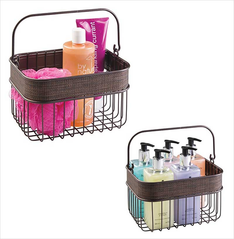 mDesign-Household-Wire-Basket-with-Handle-for-Bathroom