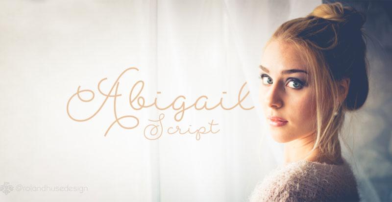 Abigail-Script-Free-Typeface