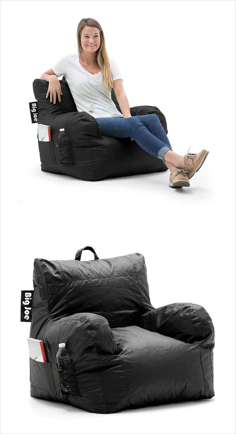 Big-Joe-Dorm-Chair,-Limo-Black