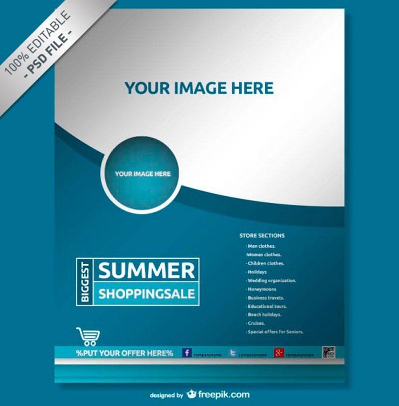 Blue-company-poster-Free-Psd
