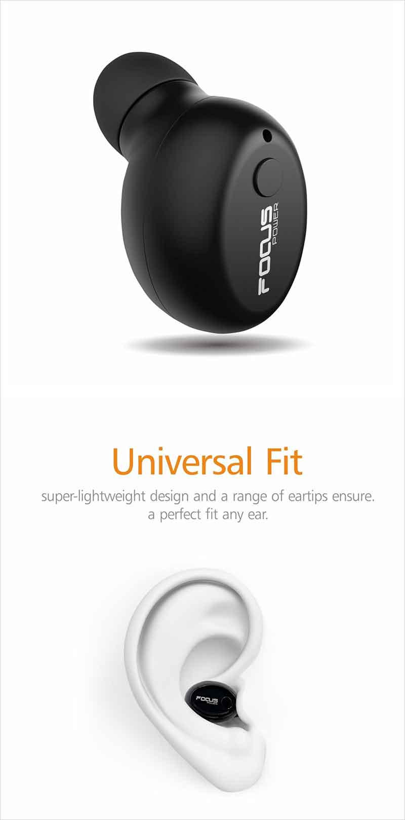 FOCUSPOWER F10 Mini Bluetooth Earbud Smallest
