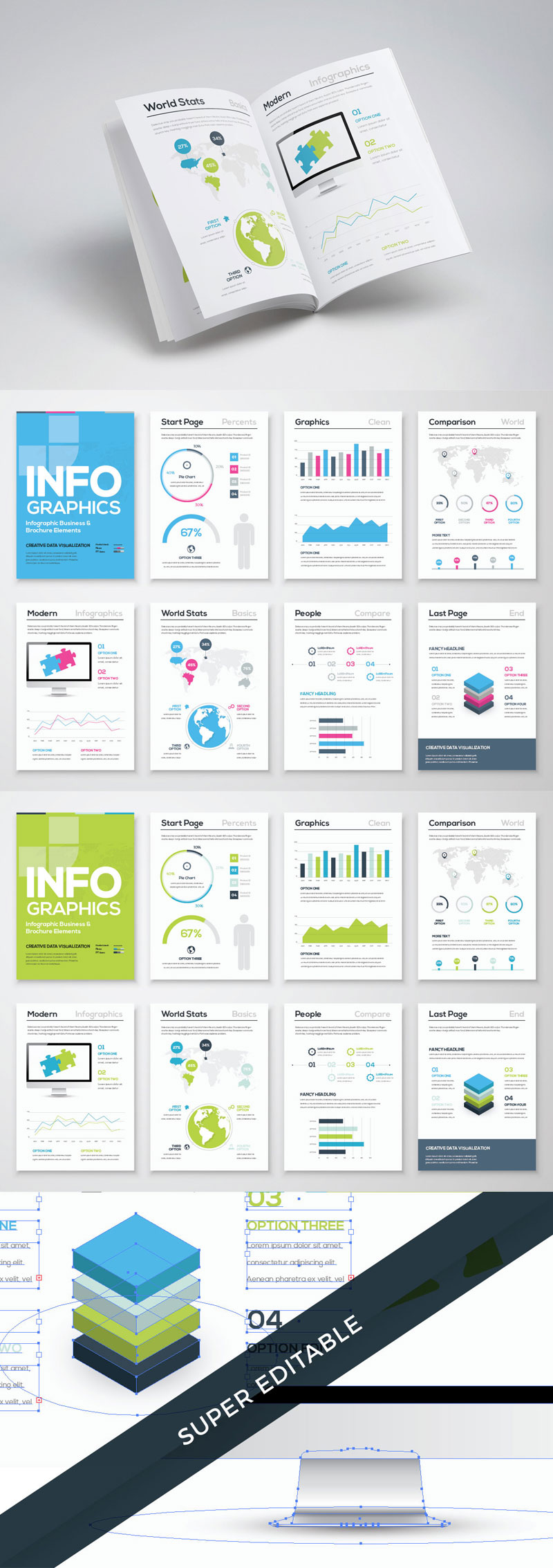 Free infographic brochure template for Infographic brochure template