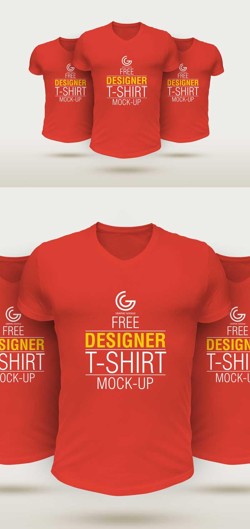 Free-Designer-T-Shirt-Mockup-PSD