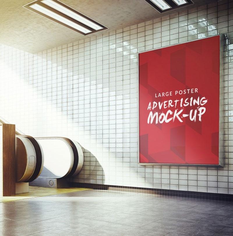 Underground-poster-mock-up-design-Free-Psd