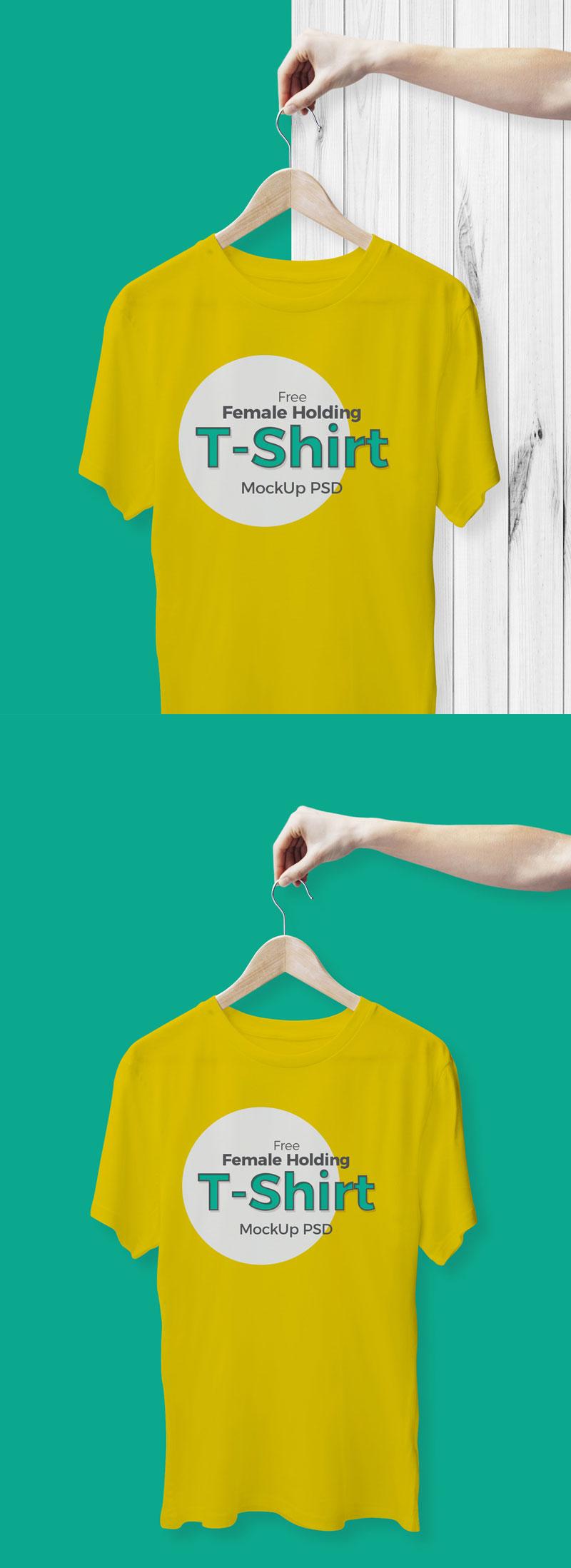 Free-Female-Holding-T-Shirt-Mockup-PSD