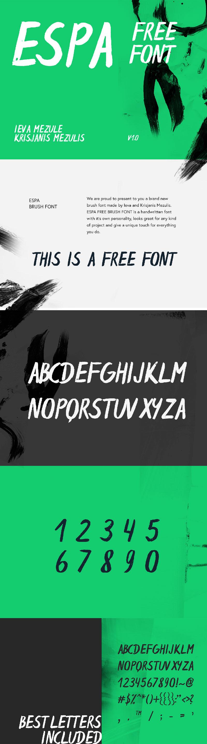 Espa-Brush-Free-Typeface