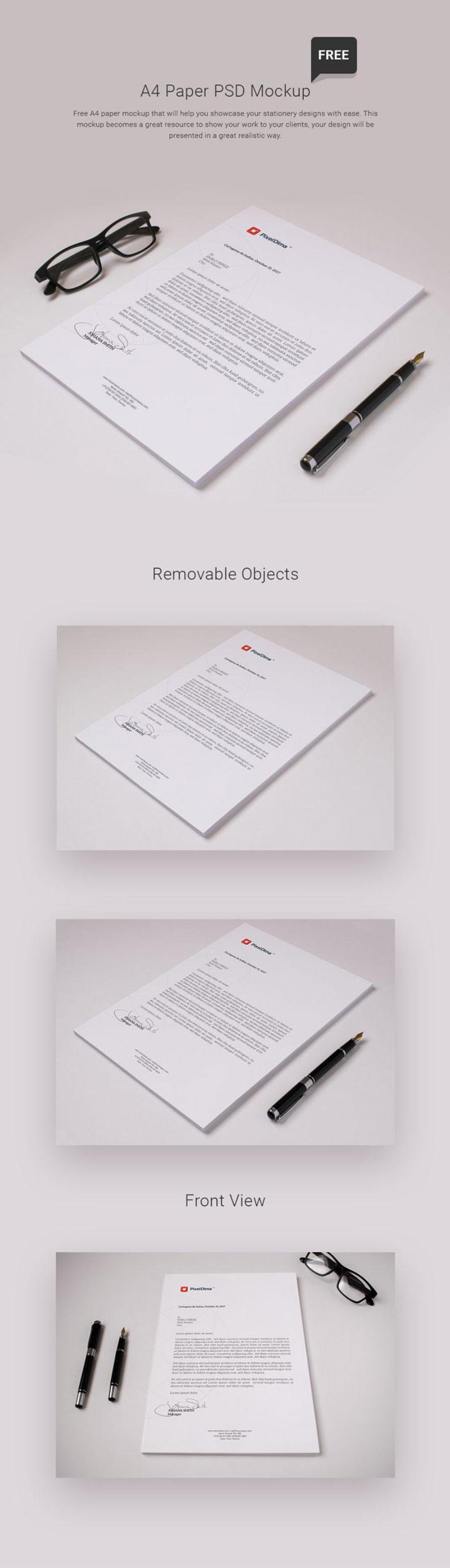 Free-A4-Paper-PSD-Mockup