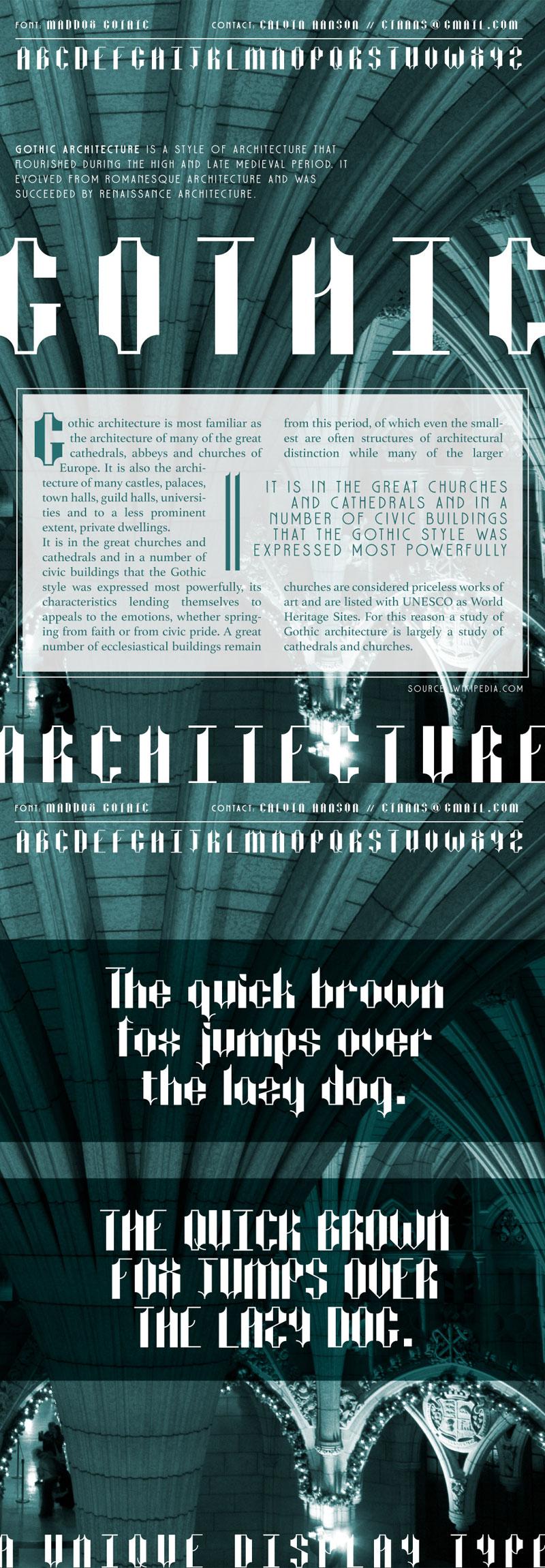 Maddox-Gothic-Free-Font