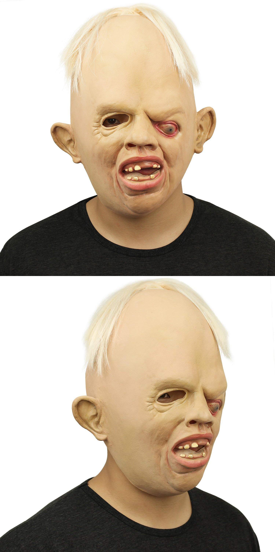 Novelty-Latex-Rubber-Creepy-Scary-Ugly-Baby-Head
