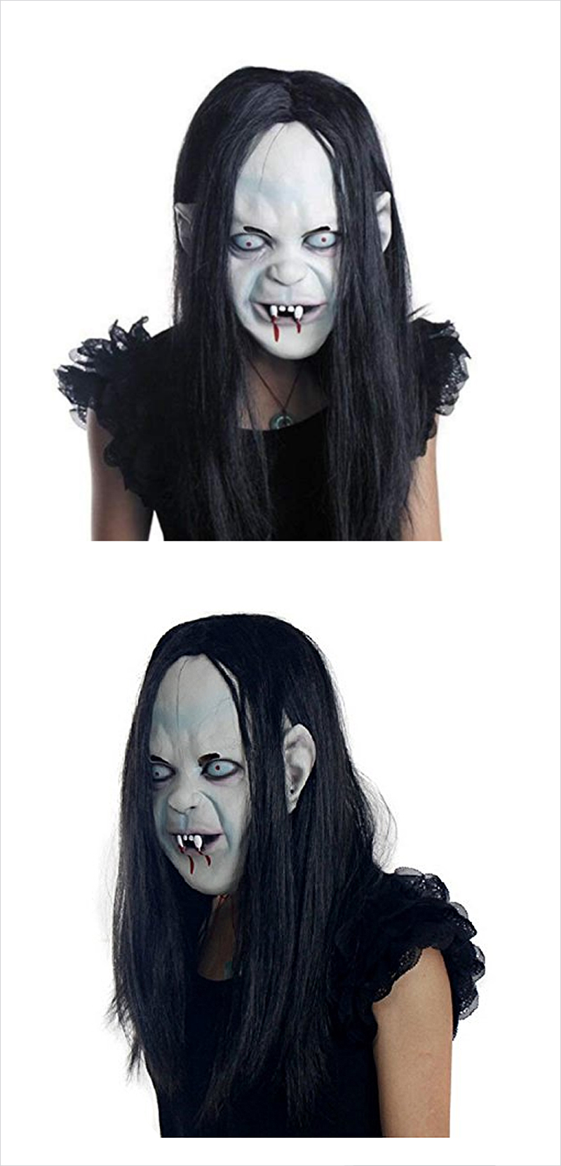 Halloween-Horror-Ghost-Mask-Scary-Zombie-Emulsion-Skin-with-Hair