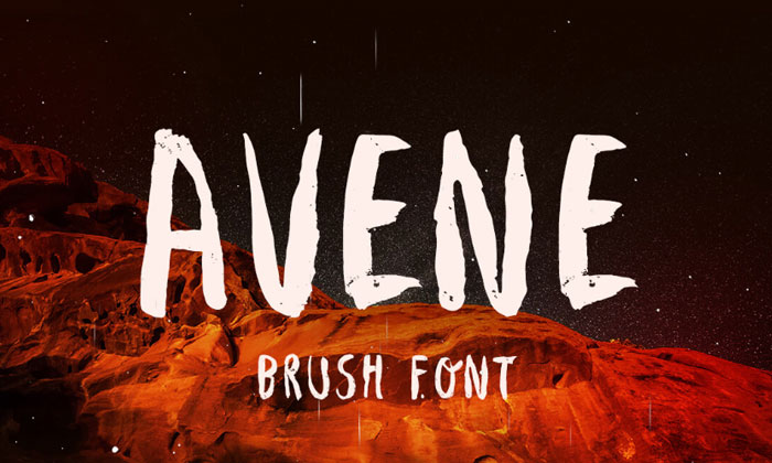 Avene-Brush-Free-Typeface